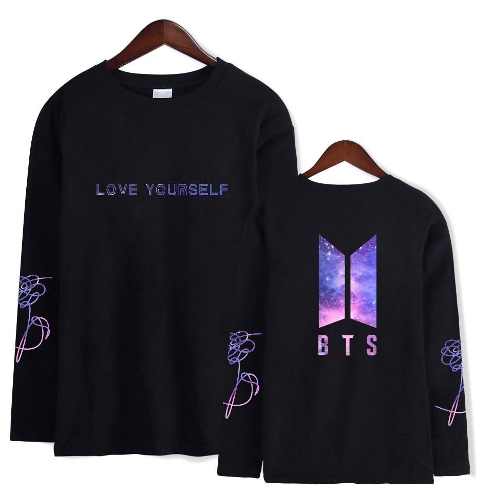 c071424aa87 RS! New BTS Long Sleeve T - Shirt Star - Sky Cotton | Shopee Malaysia