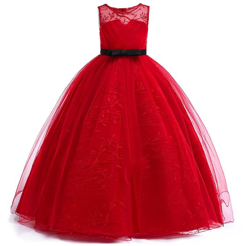 2020 Teenage Girls Dress Kids Dresses Lace Wedding Evening Dress Princess Dress Shopee Malaysia