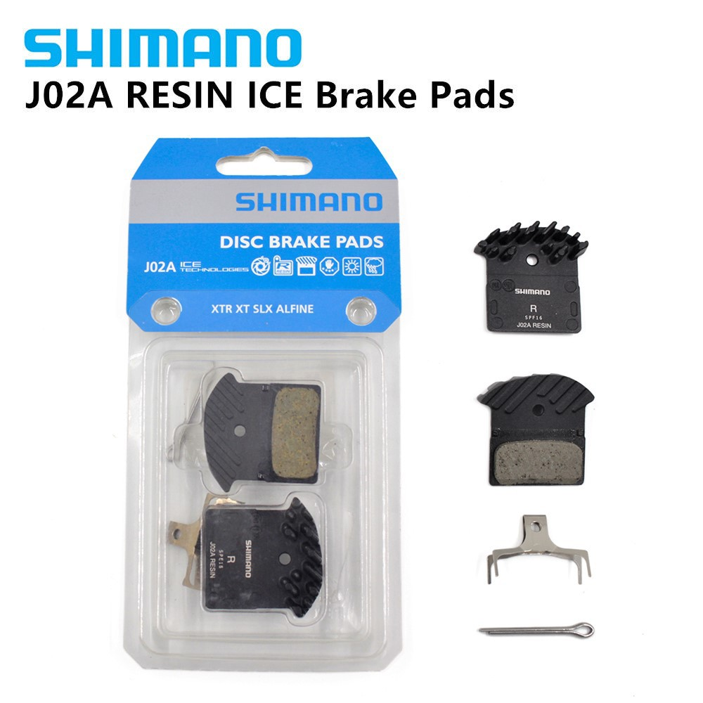 w//Spring ICE Tech Fin J02A 1 pair Shimano XTR BR-M9000,XT M8000 Resin Pad