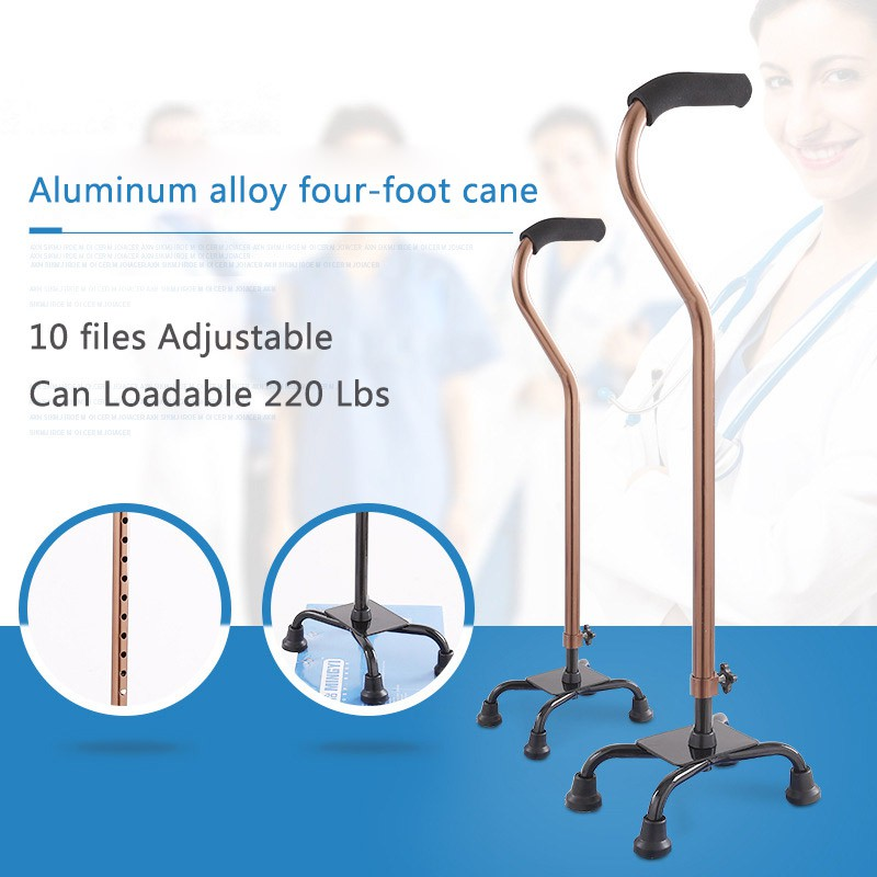 Elderly Tripod Folding Disability Medical Aid Folding Seat Aluminum Alloy Crutch Lightweight Cane with Light-5-Files Height Adjustable-Seat Portable Walking Chair Cane//Stick