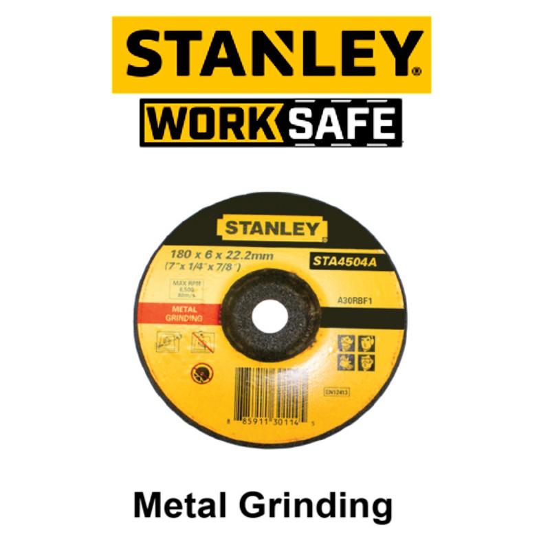 STANLEY STA4500 4'' 6.0MM METAL GRINDING DISC