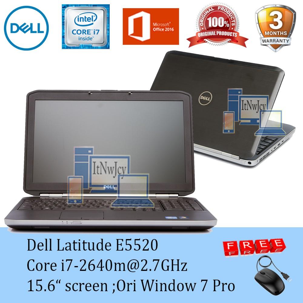 Refurbished Dell Latitude E5520 Core i7-2640m