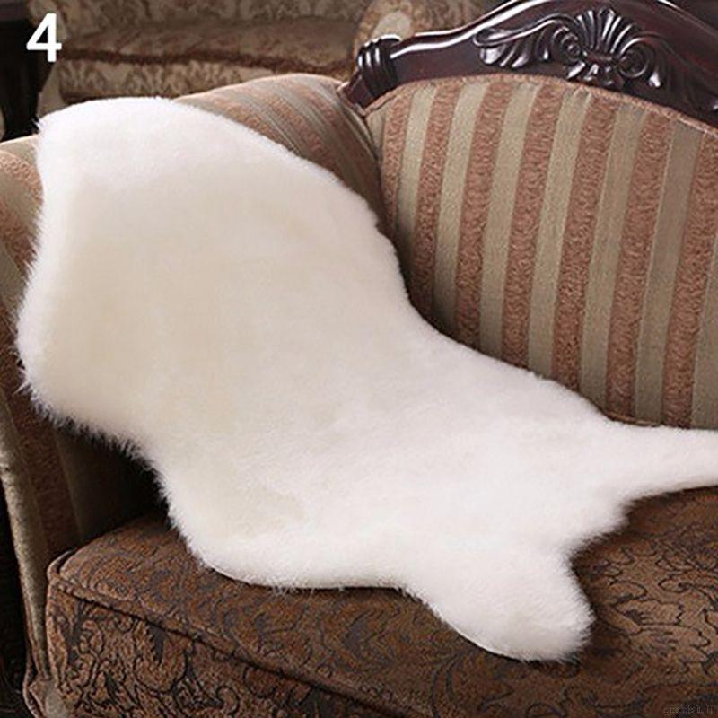 100x75cm Soft Sheepskin Rug Mat Anti Slip Carpet Pad Chair Cushion Floor Pad Home Baby Play Mat Bedroom Living Room Sofa Cover Mother & Kids
