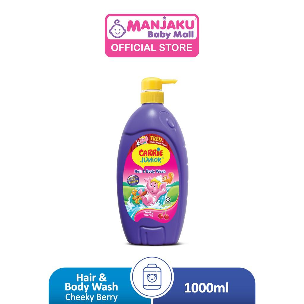 Carrie Junior Baby Hair & Body Wash (1000g) - Cheeky Cherry/Groovy Grapeberry