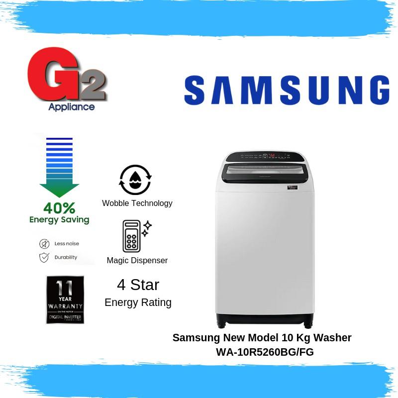 Samsung New Model 10 Kg Washer  WA-10R5260BG/FG