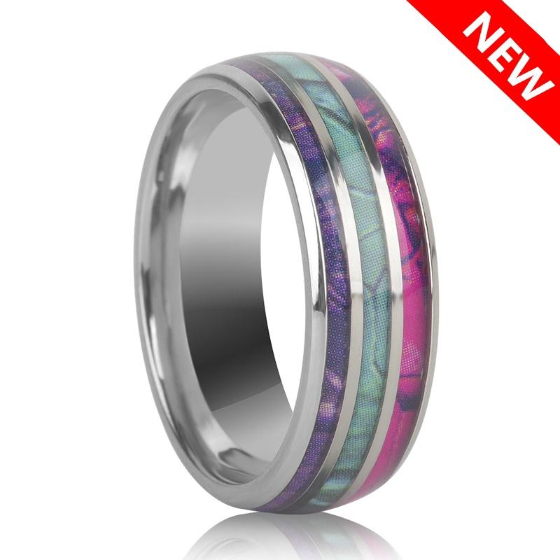 b1557d4b20910 Abalone Shell Tungsten Steel Jewelry Rings for Men Wedding Anniversary Band  Gift