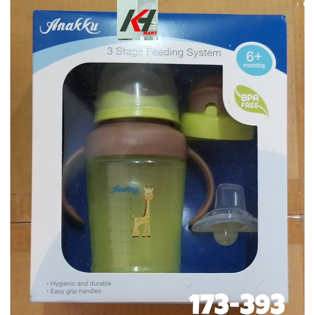 2x Nuby Baby 260ml Non Drip 3 Stage Nipple Spout Straw Drinking//Feeding Bottle