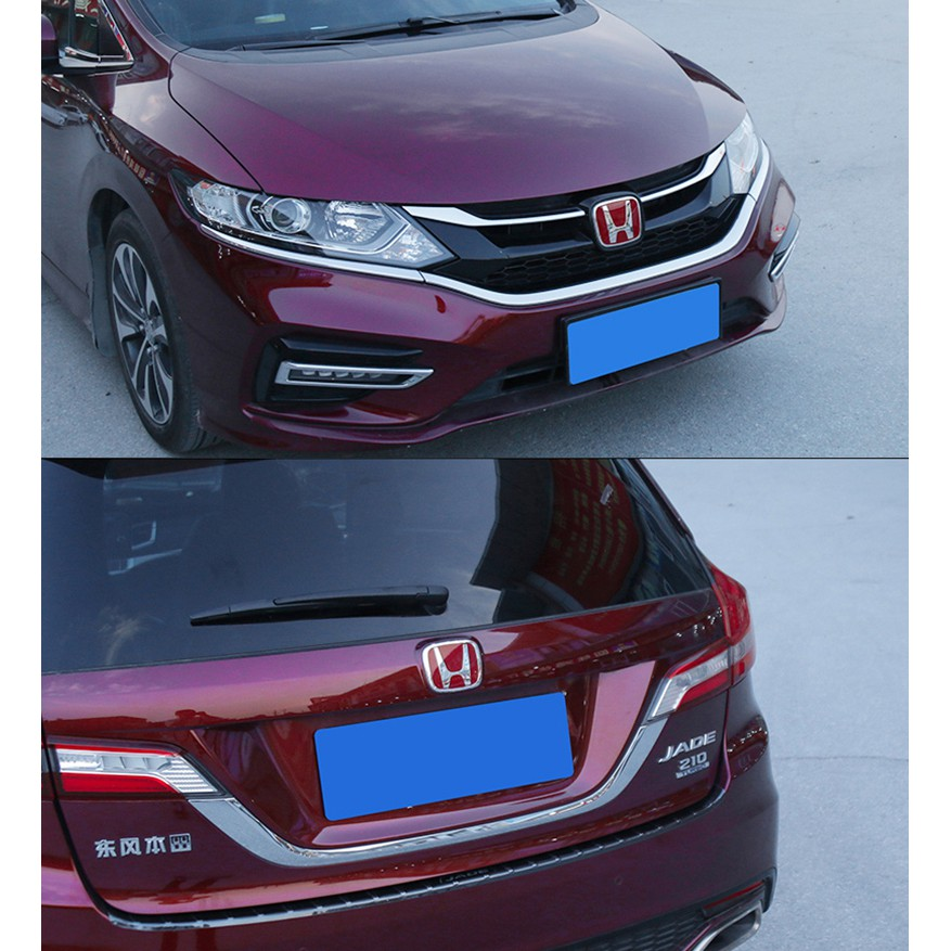 Front Emblem Rear Trunk Badge Steering Wheel Center Sticker For Honda Civic 2017 Accord CRV HRV Fit Jazz City Odyssey Jade Vezel,Blue,103x84mm