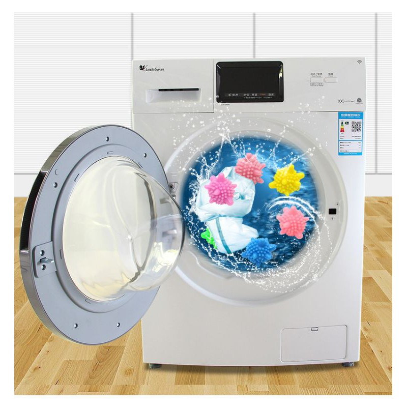 【Ready stock】大号6cm洗衣球洗衣机除毛器洗护球韩国魔力去污球防缠绕