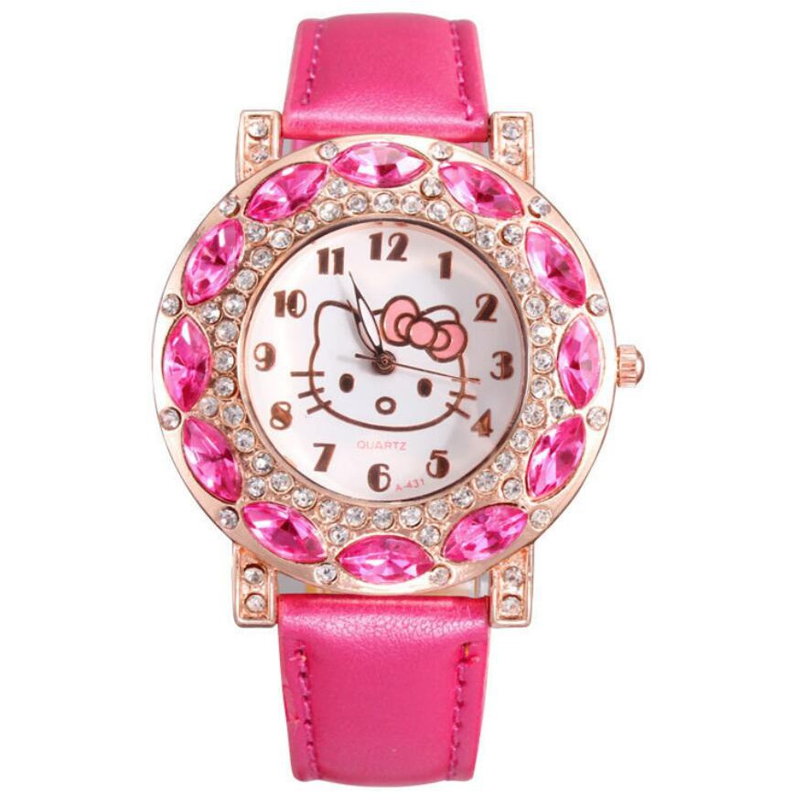 d5909404eac3e2 Children Cat Hello Kitty Bracelet Kids Girls Boys Beads Braid Charm Jewelry