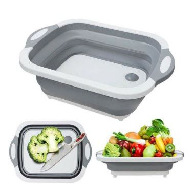 Multifunction Folding Cutting Board Drain Basket