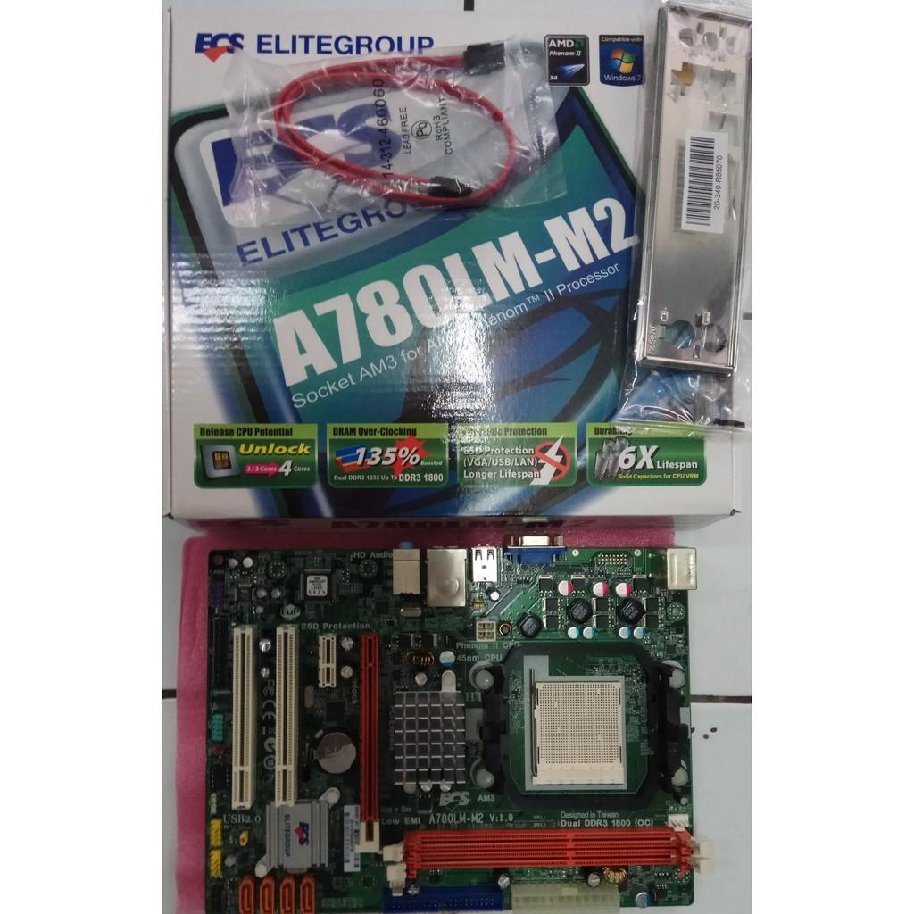 NEW ECS A780LM-M2 AM3 DDR3 Motherboard