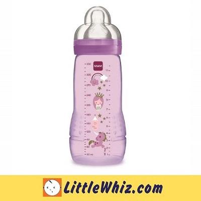 MAM: Easy Active Baby Feeding Bottle 330ml - 1pk - Lilac Unicorn
