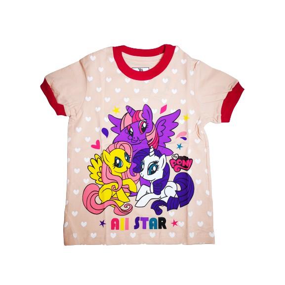 POLOUS Girl Cotton Short Sleeve Round Neck Shirt 9010-PONY