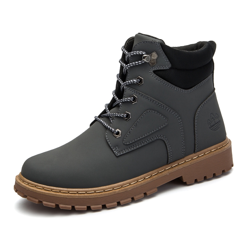 3ee8b2082a ready stock Men Boots Winter Warm Leather Martins Shoes Martins black,brown  grey