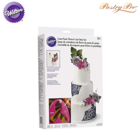 WILTON, Gum Paste Flowers Cutter Set, 28 Piece