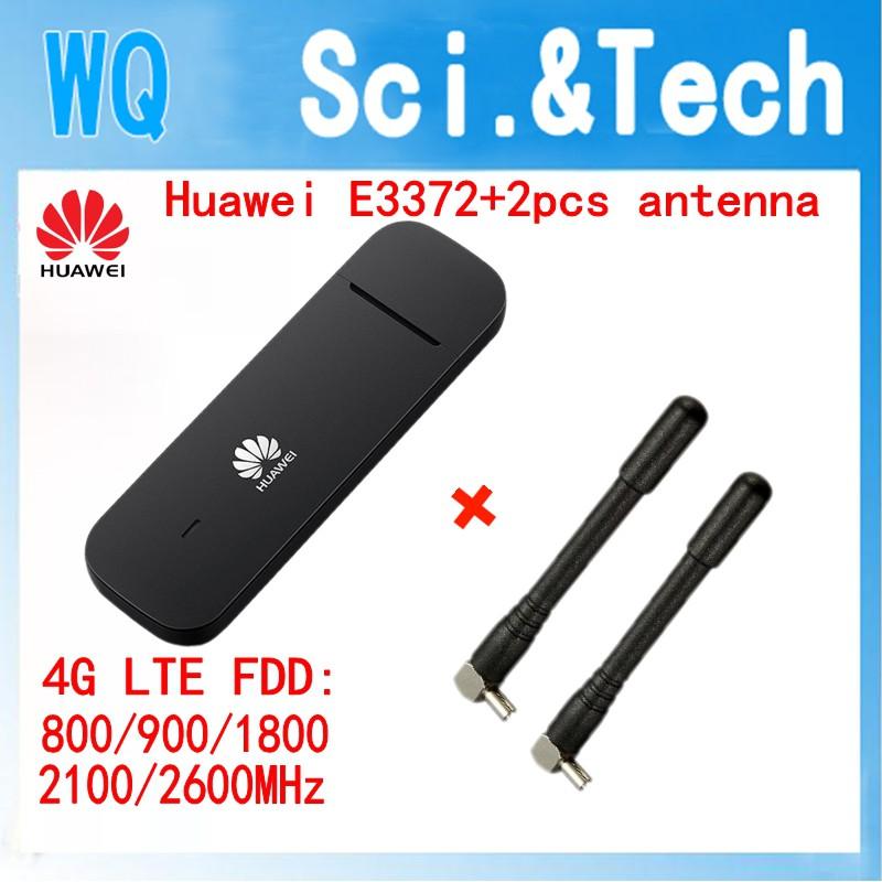 Huawei E3372 E3372h-153 4G USB modem Direct Sim Single PC Use +2pcs antenna
