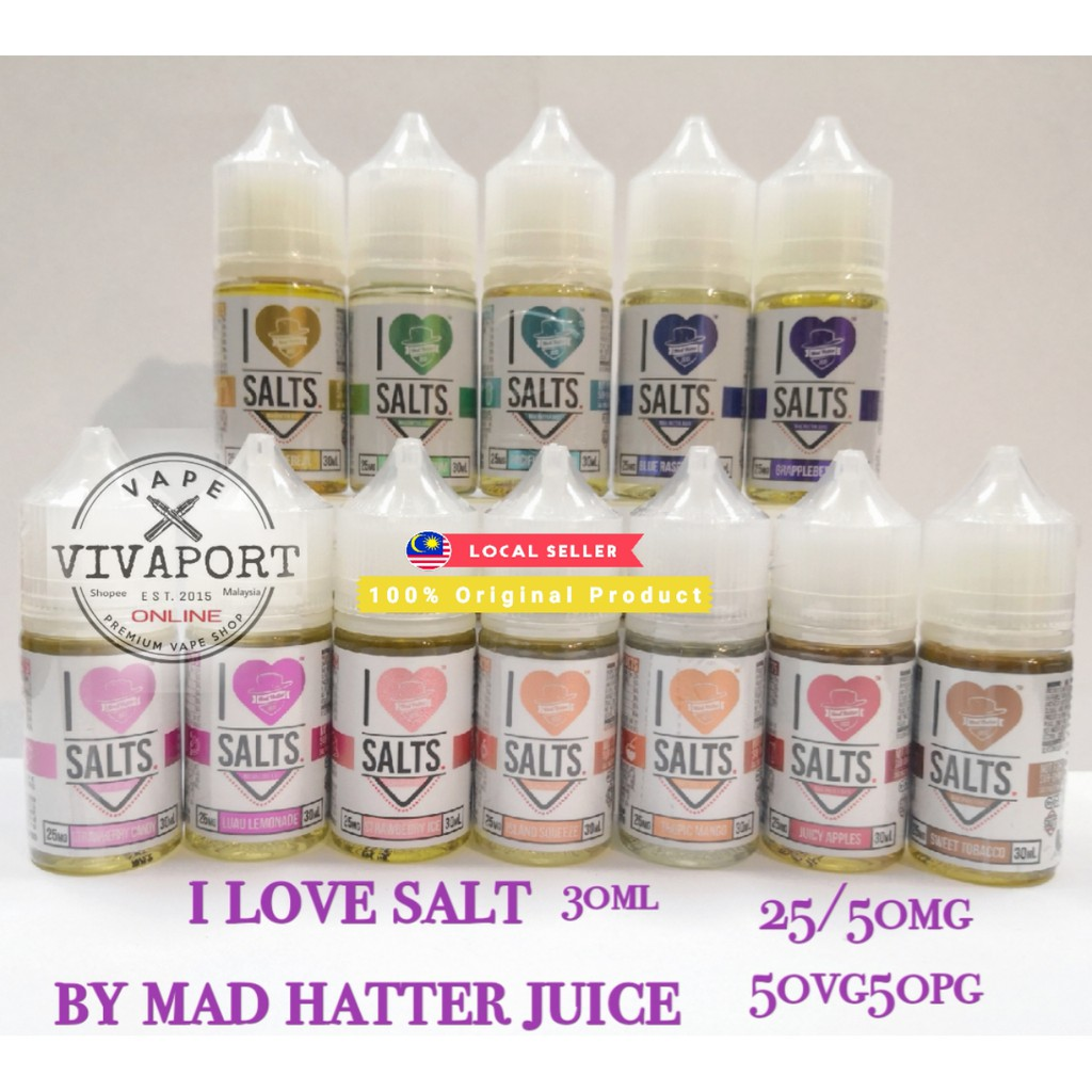 Original I Love Salt by MadHatter 30ml 25/50mg