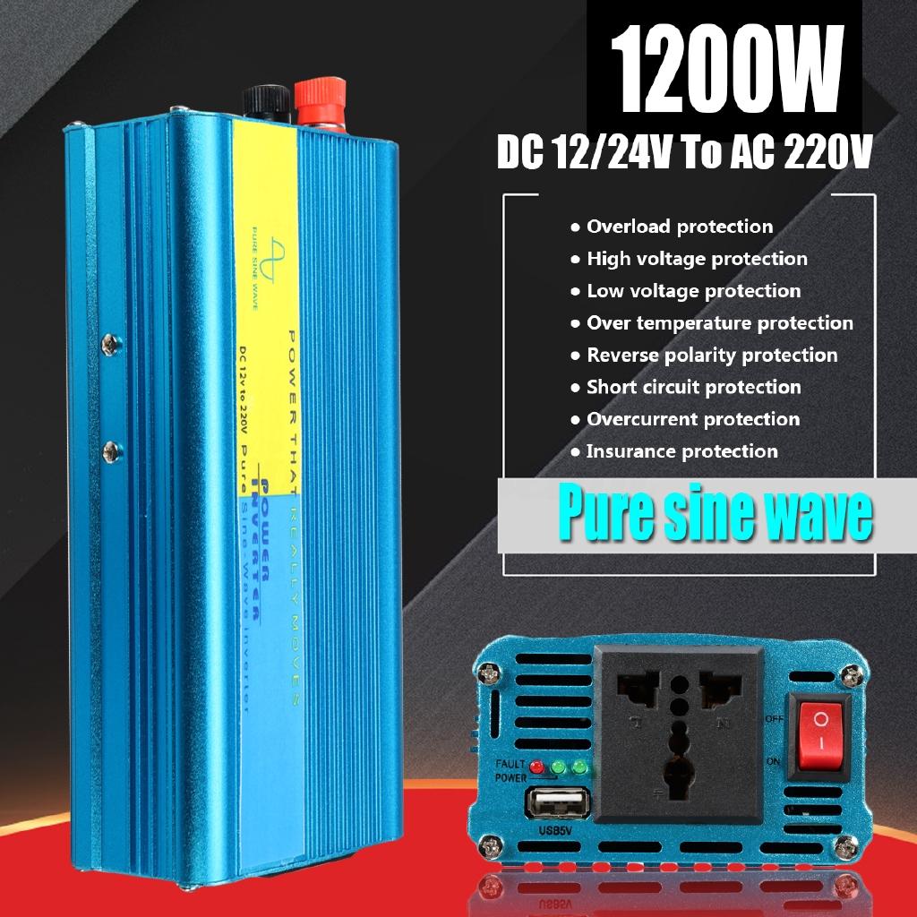 5000w Peak Modified Sine Wave Inverter Converter 12 24 48v Dc To Pure Generator On Bug Zapper Schematic Diagram 220v Ac Shopee Malaysia