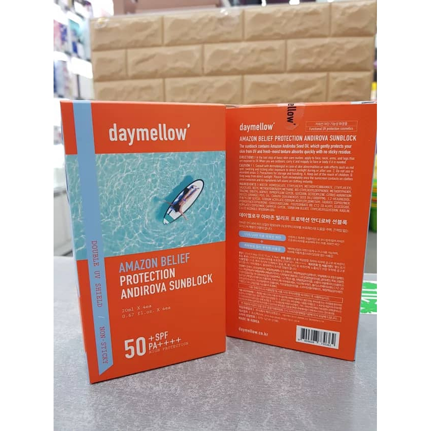Daymellow Amazon Belief Protection Andiroya Sunblock 20ml*4s SPF50 PA+++