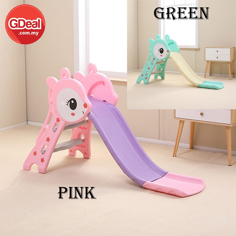 GDeal 0-3 Years Old Children Foldable Playground Slide Indoor Outdoor Safety Guard Fence Gelongsor