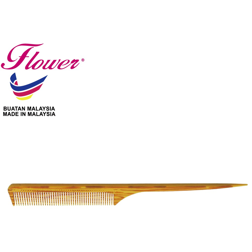 Flower Brush Wood Printing Best Sell Comb Made in Malaysia (Sikat/Berus Rambut/Balung/Sisir)