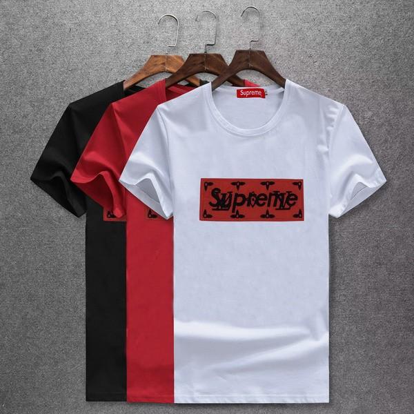 1519d4912195 New Spot Summer Short Sleeve Supreme X Lv Joint Men'S Short-sleeved T-shirt  | Shopee Malaysia