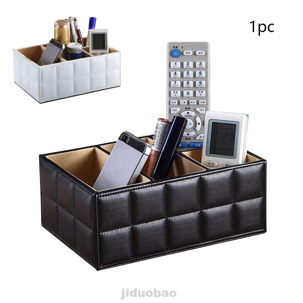 Faux Leather Modern Desk Organizer Tidy