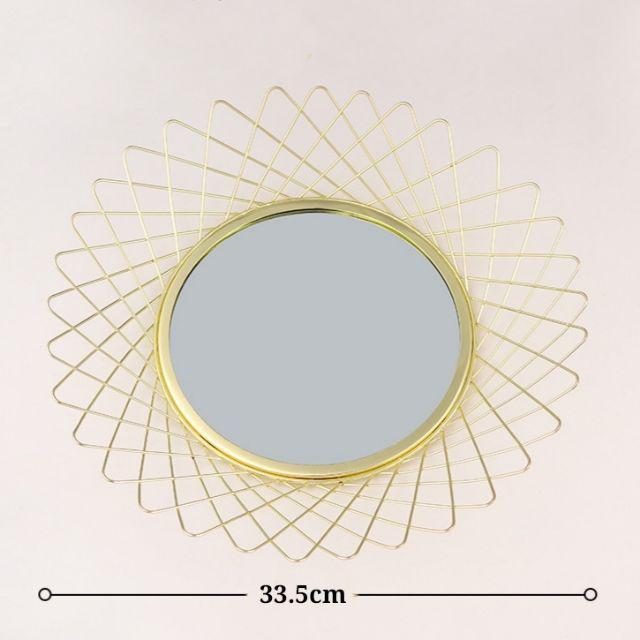 [ READY STOCK ]  Vintage Nordic Gold European Mirror Tray Glass Iron Metal Round Fruit Plate Kitchen Jualan Murah Storage