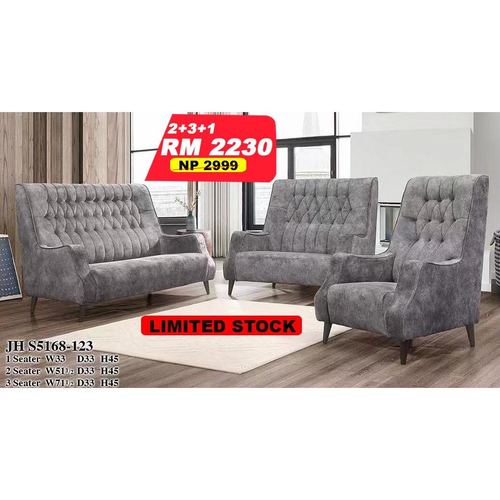 2 3 1 Seater Fabric Full Set Sofa By Luzano Limited Stock Shopee Malaysia