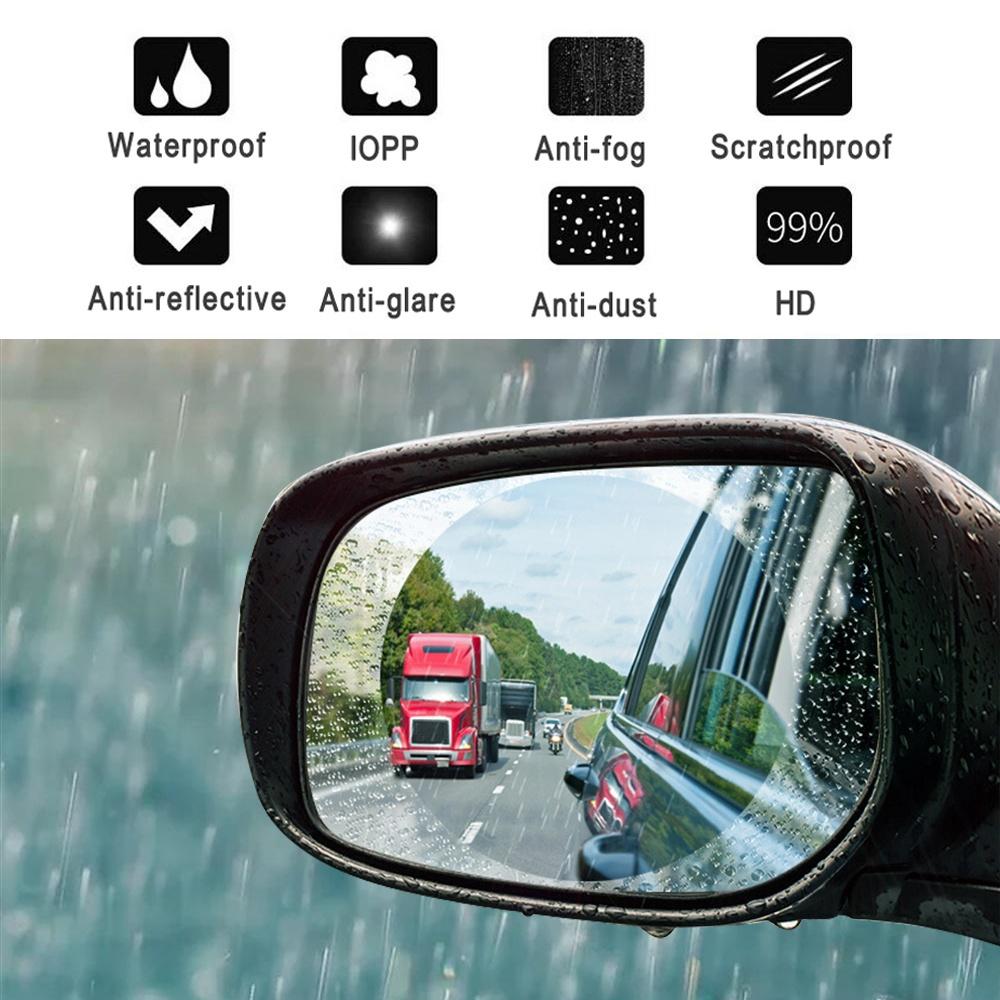 1 Pair Car Rearview Mirror Window Clear Film Anti Fog Anti-glare Rainproof Protective Film Car Sticker