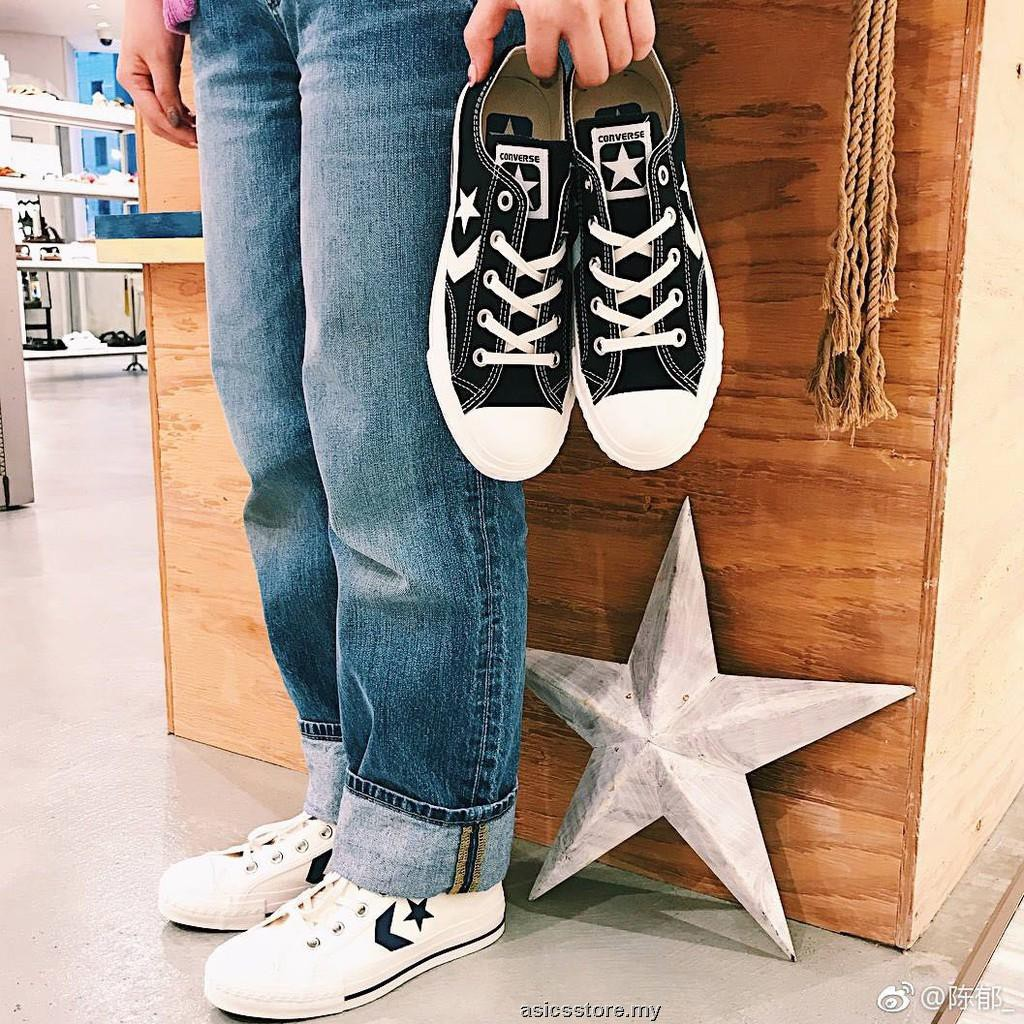converse sneakers star player denim ox (black)