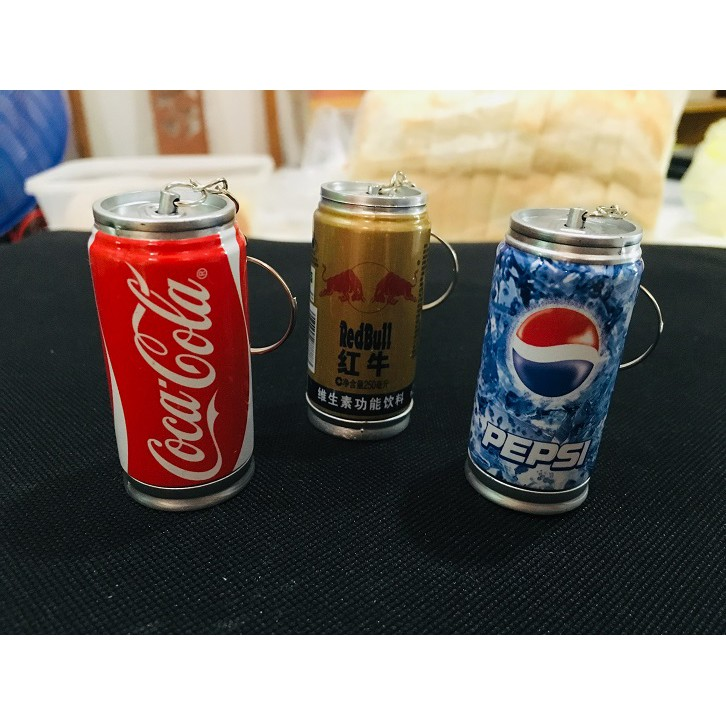 Coke/ Pepsi/ Redbull Can Drink Keychain Pen