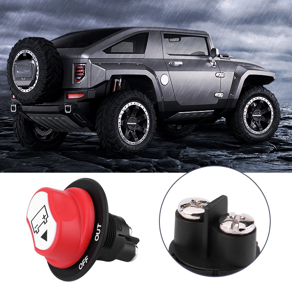 Battery Isolator Switch for Boat,Waterproof Battery Master Disconnect Switch Power Cut//Shut off Kill Switch Max DC 50V 50A CONT 75A INT for Car Marine Yacht RV ATV Vehicles