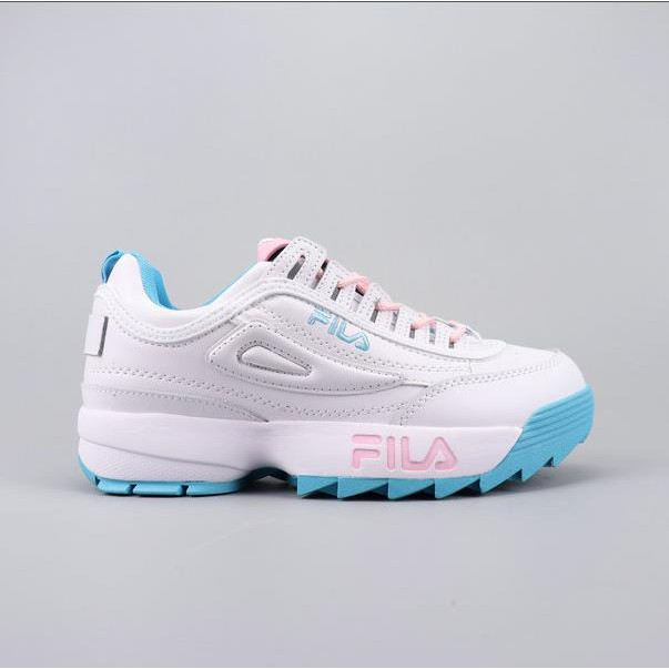 81883c4591 FILA DISRUPTOR non-slip and thick bottom leather women's running shoes  sneakers Macaron EU36-40