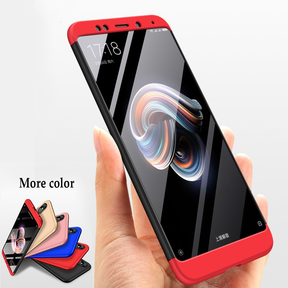 finest selection 8aa4e af2ec Xiaomi Redmi Note 5 Pro Case 360 Full Body Hard Hybrid Plastic Protection  Case