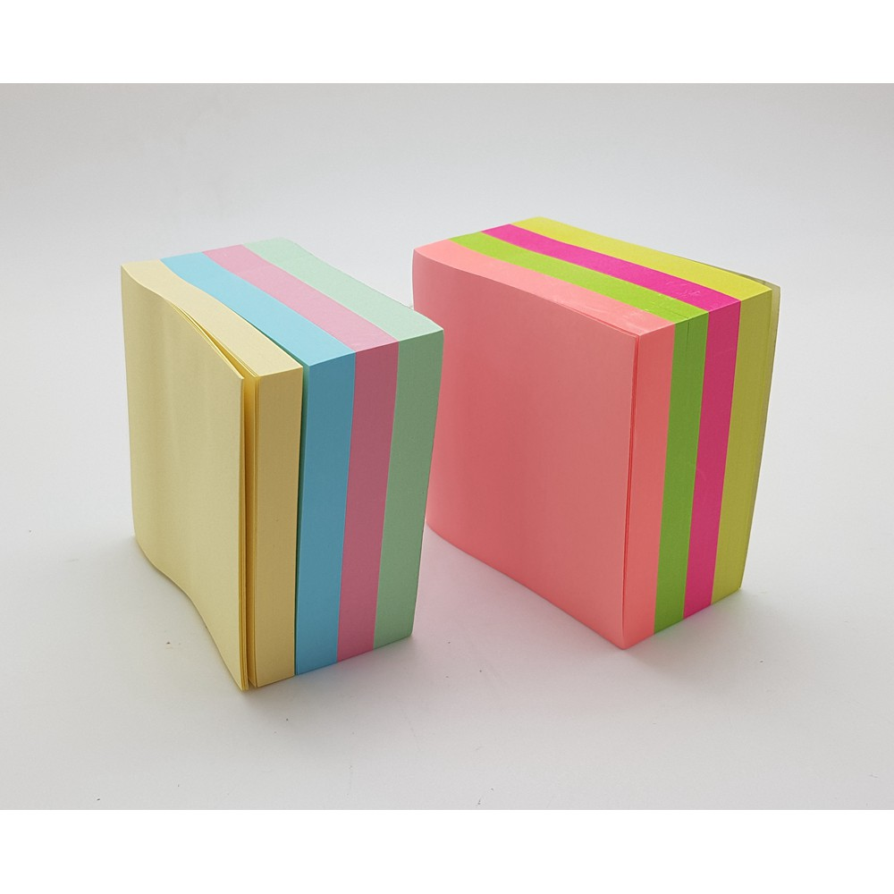 *READY STOCK* Post-it Sticky Notes 3 x 3 Inch Cube Capetown 400 Sheet(mix col)
