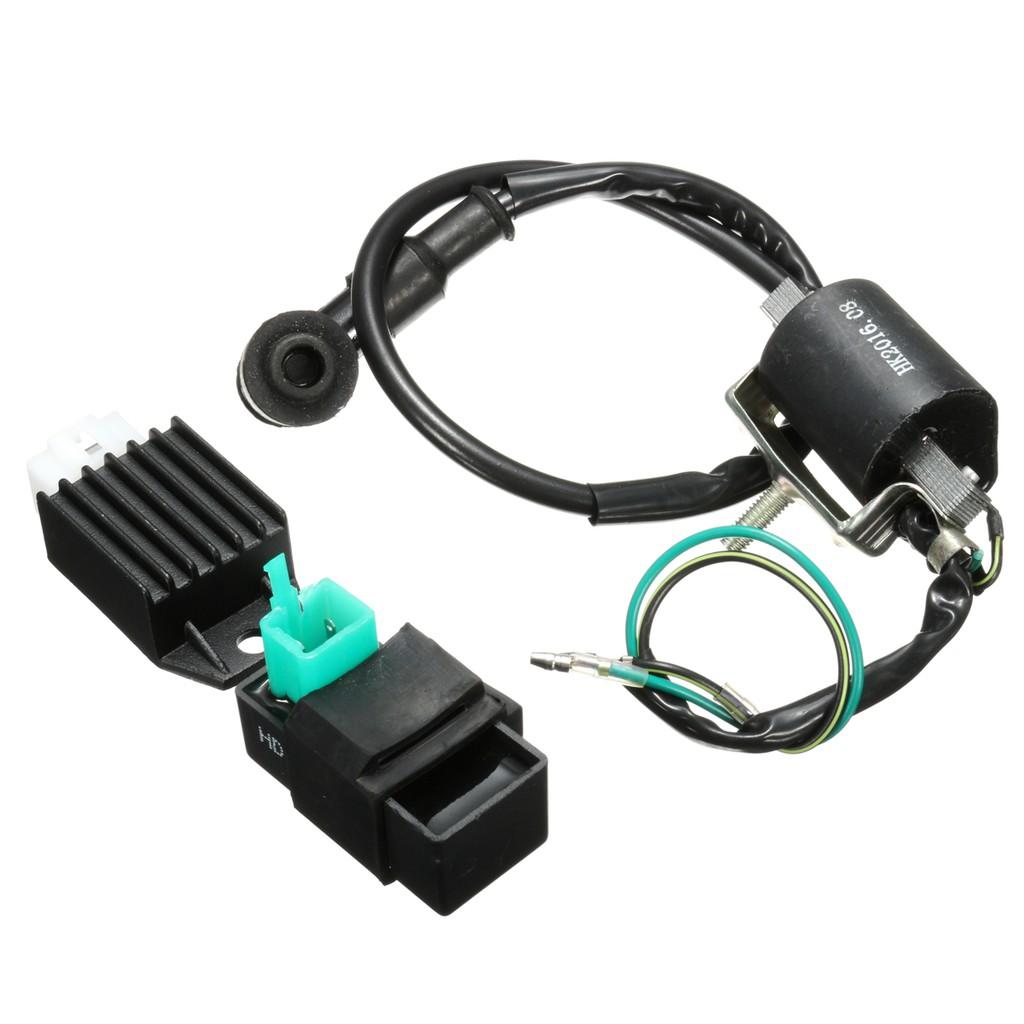 Universal Wiring Loom Switch Coil Cdi Spark Plug Kit For 50 140cc Harness Kill 50cc 110cc 125 140 150 160cc Pit Dirt Bike Shopee Malaysia