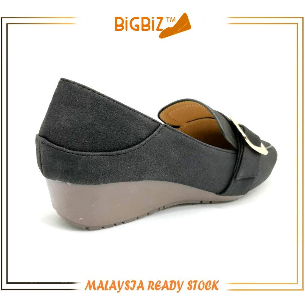 Ready Stock Lady OL Slip-on Covered Wedges Shoe by BigBiz
