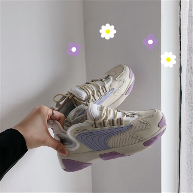 2019 new han edition student women movement, torre wind flat shoes ulzzang port soft sister college color matching tide