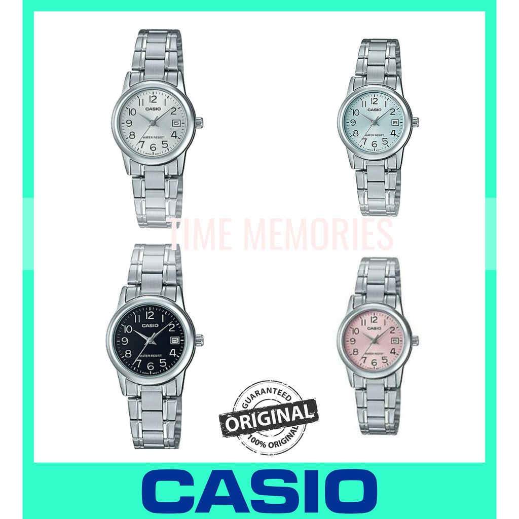 Casio Original Ltp V300d Ladies Steel Multihand Analog Jam Wanita Tangan V005l 7b Warranty Box Shopee Malaysia