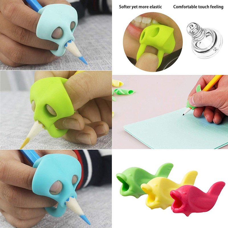 Cute Pencil Grip Children Holder Ergonomic Training For Handwriting Silicon