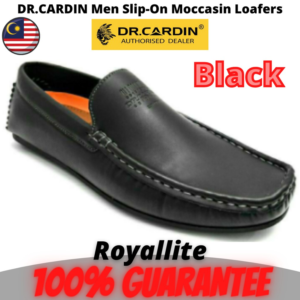 DR.CARDIN Men Casual Slip-On Moccasin Loafers with Buckle Detailing (60730) Tan & Black