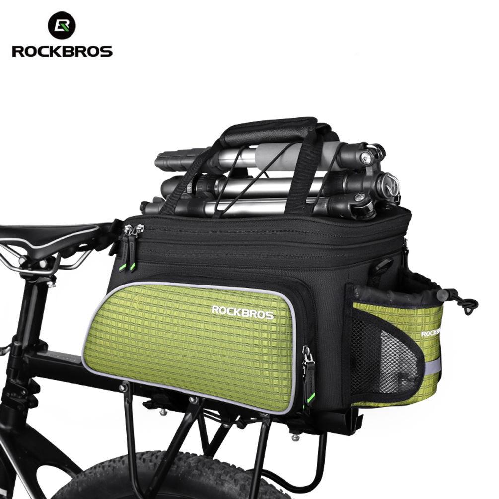 Rockbros Mtb Road Bicycle Bike Bags Rear Carrier Bag Pack A 008 Handlebar Front Waterproof Pannier 3 4l Green Shopee Malaysia