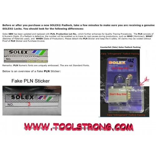 SOLEX MASTER KEY SET - 40MM X 3PCS