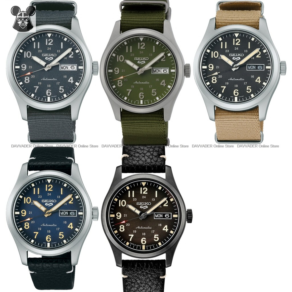 SEIKO 5 Sports Field SRPG31K1 SRPG33K1 SRPG35K1 SRPG39K1 SRPG41K1 -  24-hours Day Date Automatic *Original