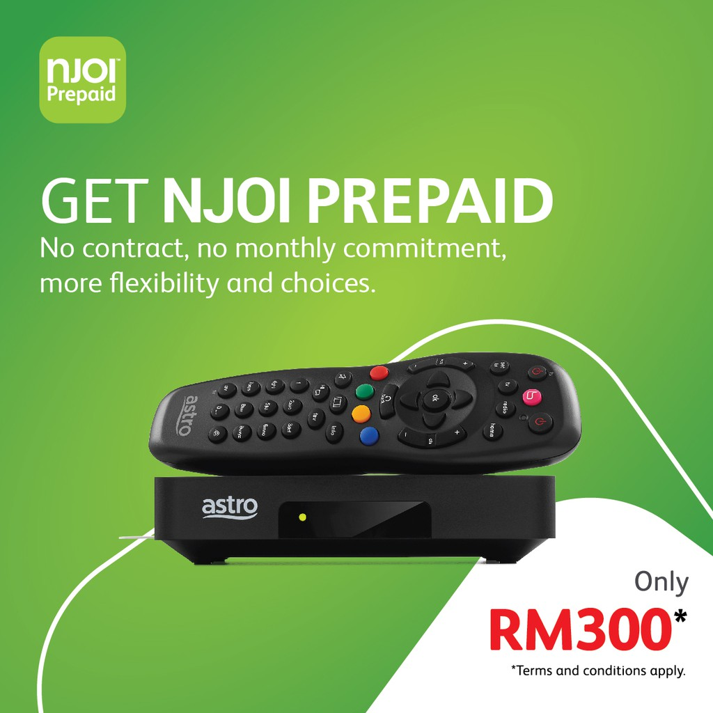 Bundled NJOI Free Satellite TV from Astro