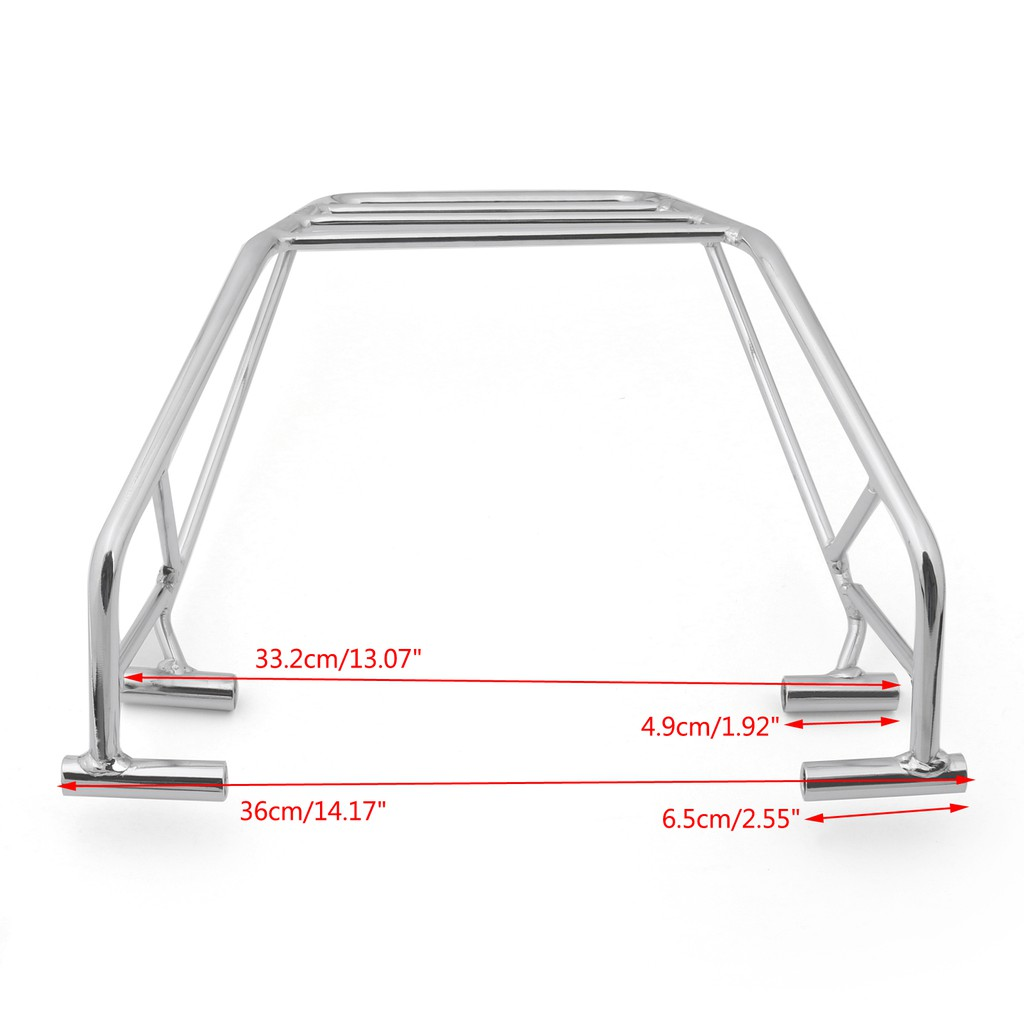 Motorcycle Rear Backrest Luggage Rack Mount Carrier For Honda Nighthawk CB 250