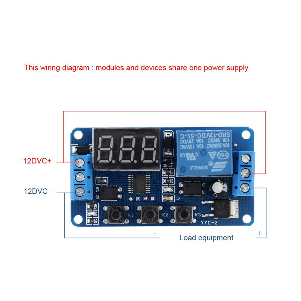 24V LED Delay Timer Control Switch Automation Relay Module with case new
