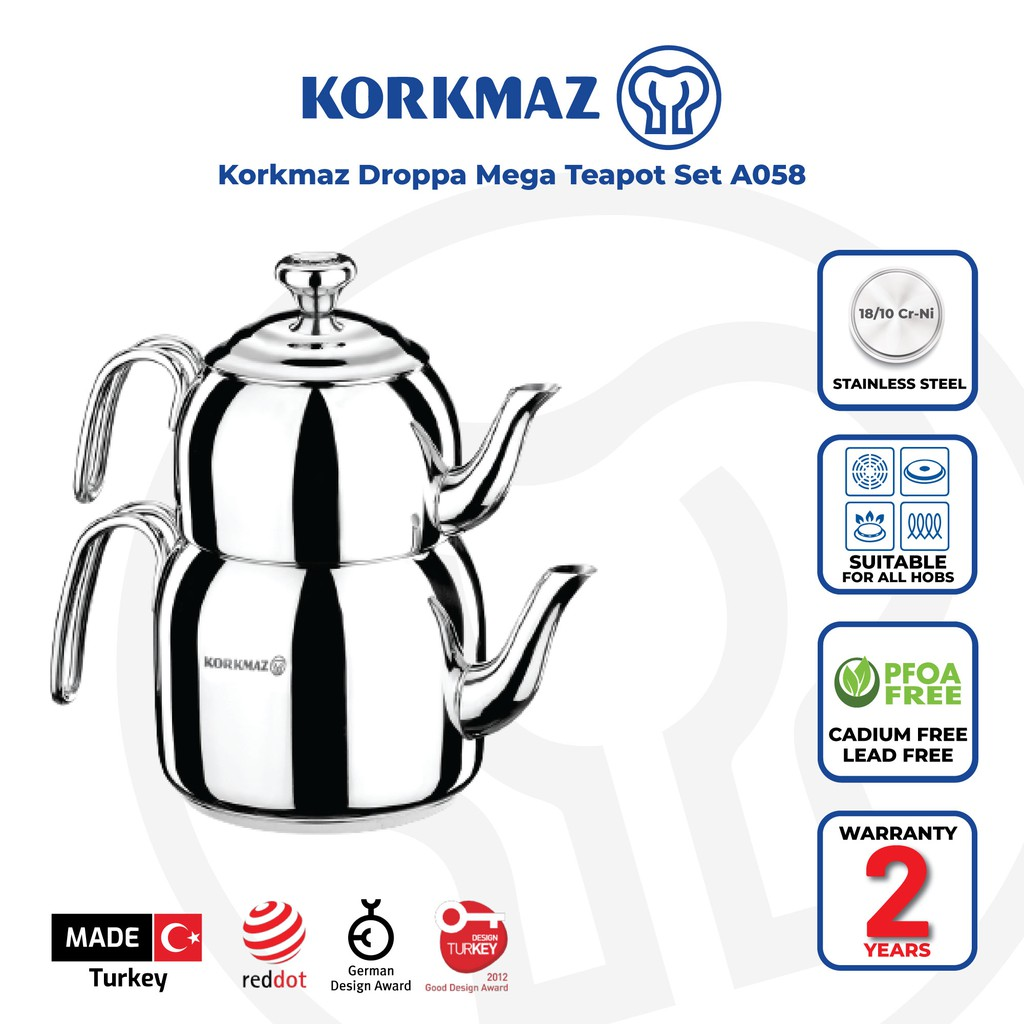 Korkmaz Droppa Mega Teapot Set A058